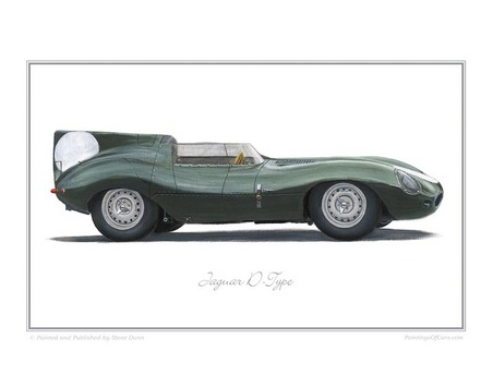 Jaguar D-Type Classic Car Oil